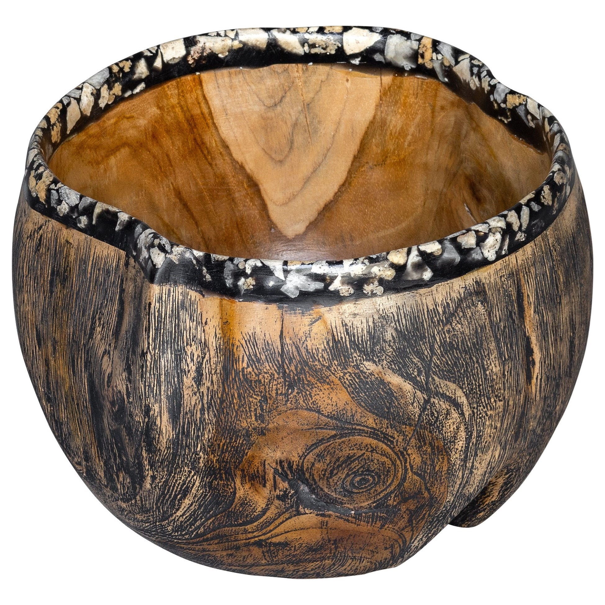 Accessories Chikasha Wooden Bowl by Uttermost at Hudson's Furniture