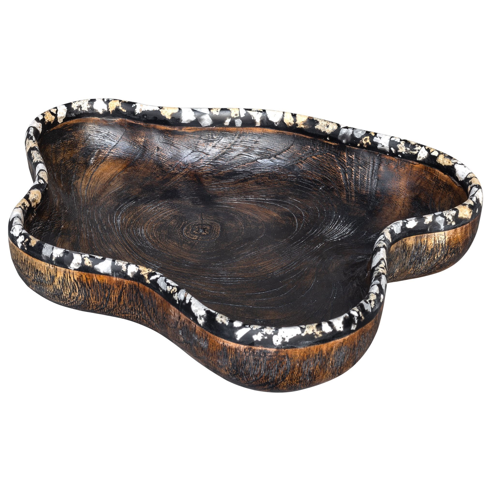 Accessories Chikasha Wooden Bowl - Large by Uttermost at Mueller Furniture