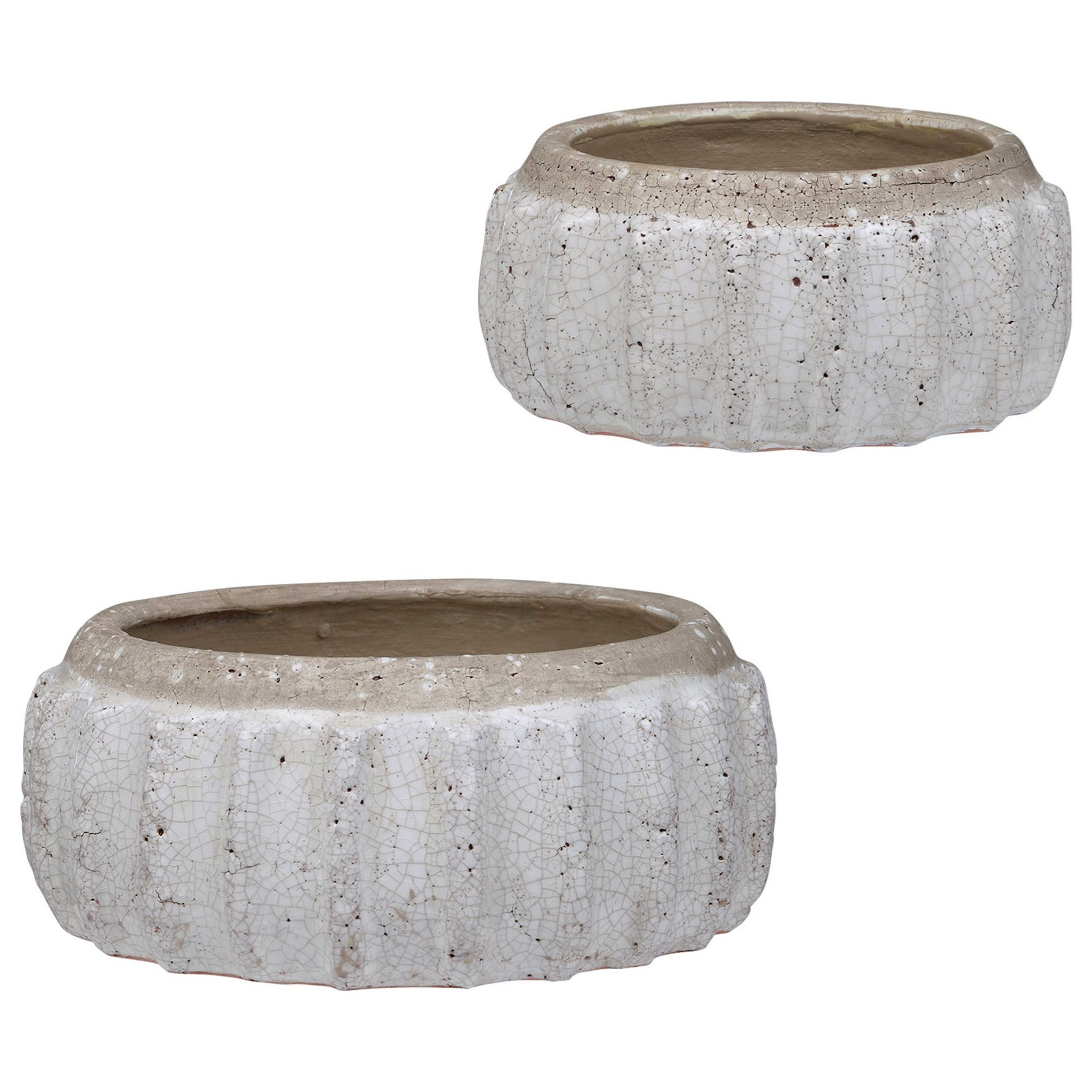 Accessories Azariah Distressed Bowls, S/2 by Uttermost at Del Sol Furniture