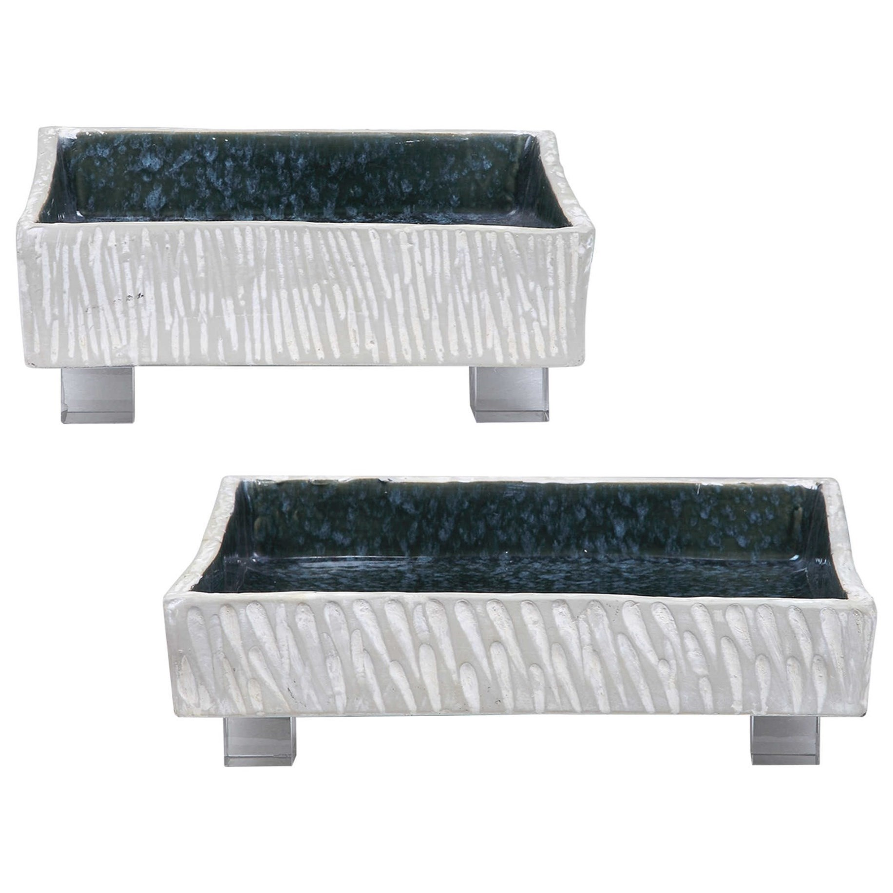 Accessories Ambretta Square Bowls, S/2 by Uttermost at Del Sol Furniture