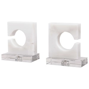 White & Gray Bookends, S/2