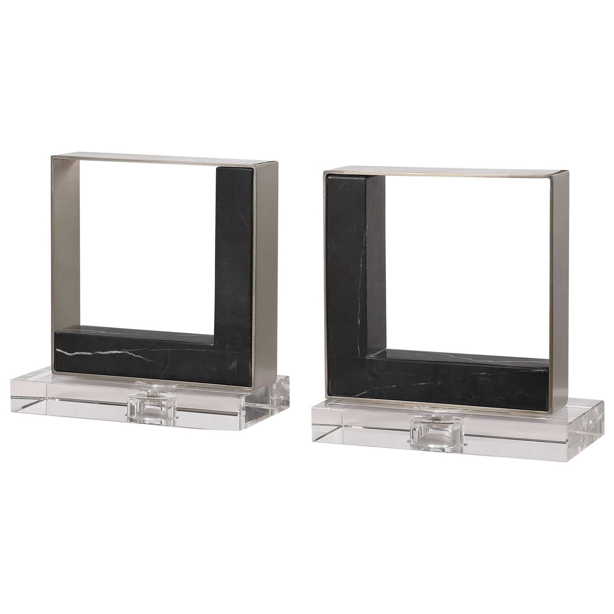 Accessories Modern Marble Bookends, S/2 by Uttermost at Del Sol Furniture