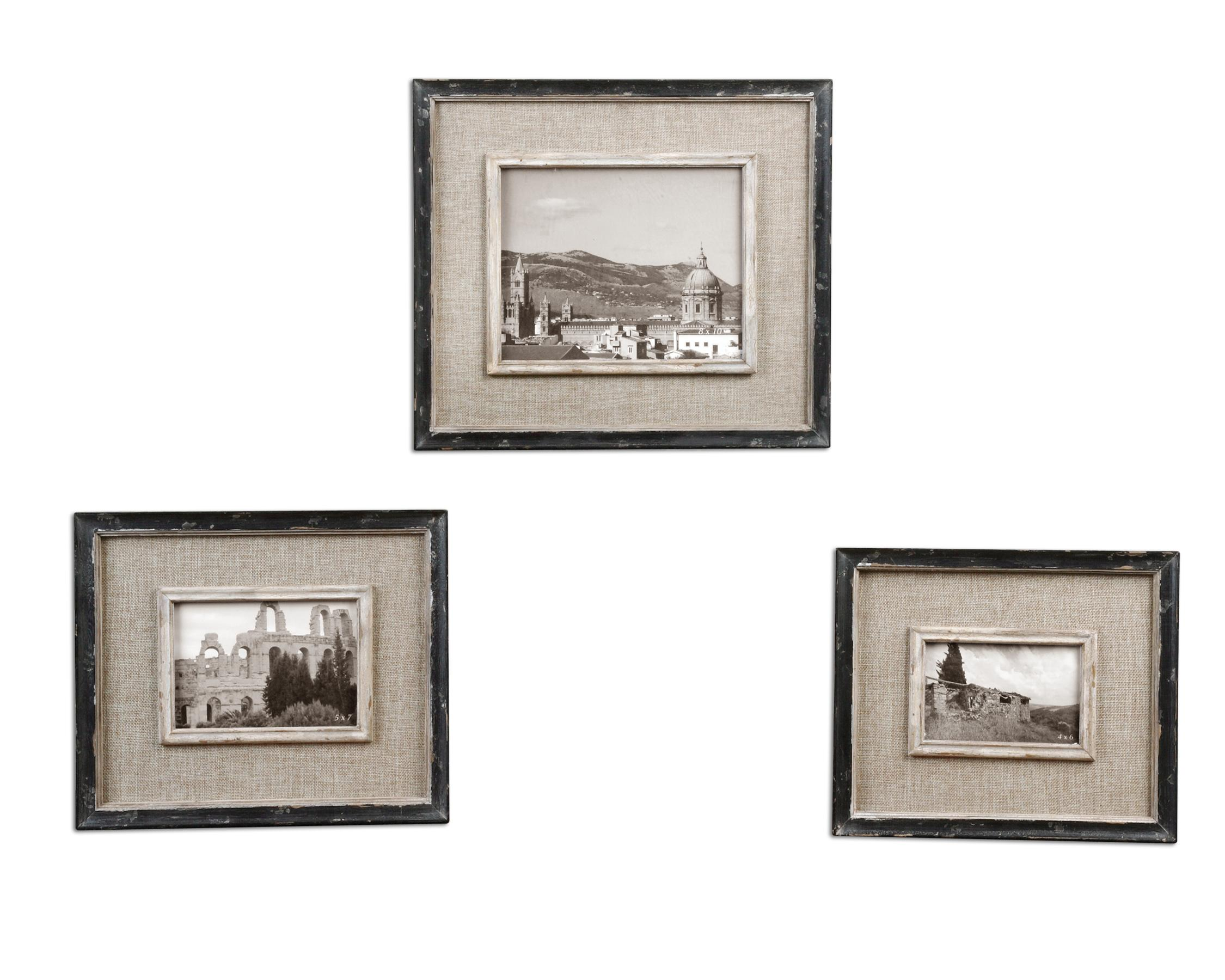Uttermost Accessories Kalidas Photo Frames Set of 3 - Item Number: 18537