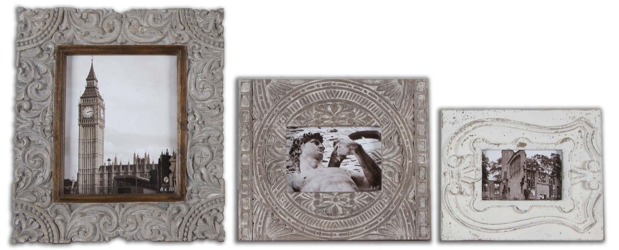 Uttermost Accessories Askan Antique White Photo Frames - Item Number: 18556