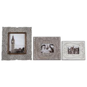 Uttermost Accessories Askan Antique White Photo Frames