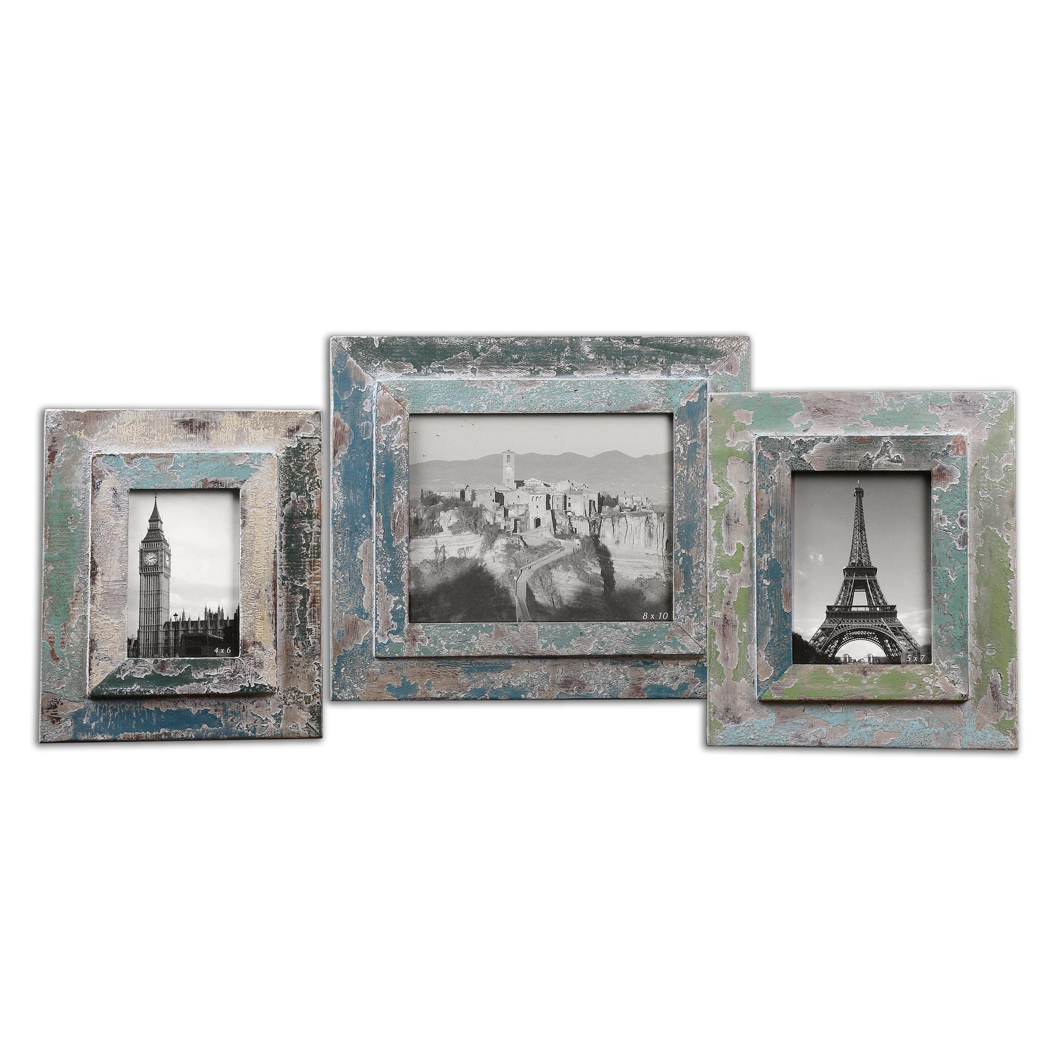 Uttermost Accessories Acheron Photo Frames, Set of 3 - Item Number: 18560