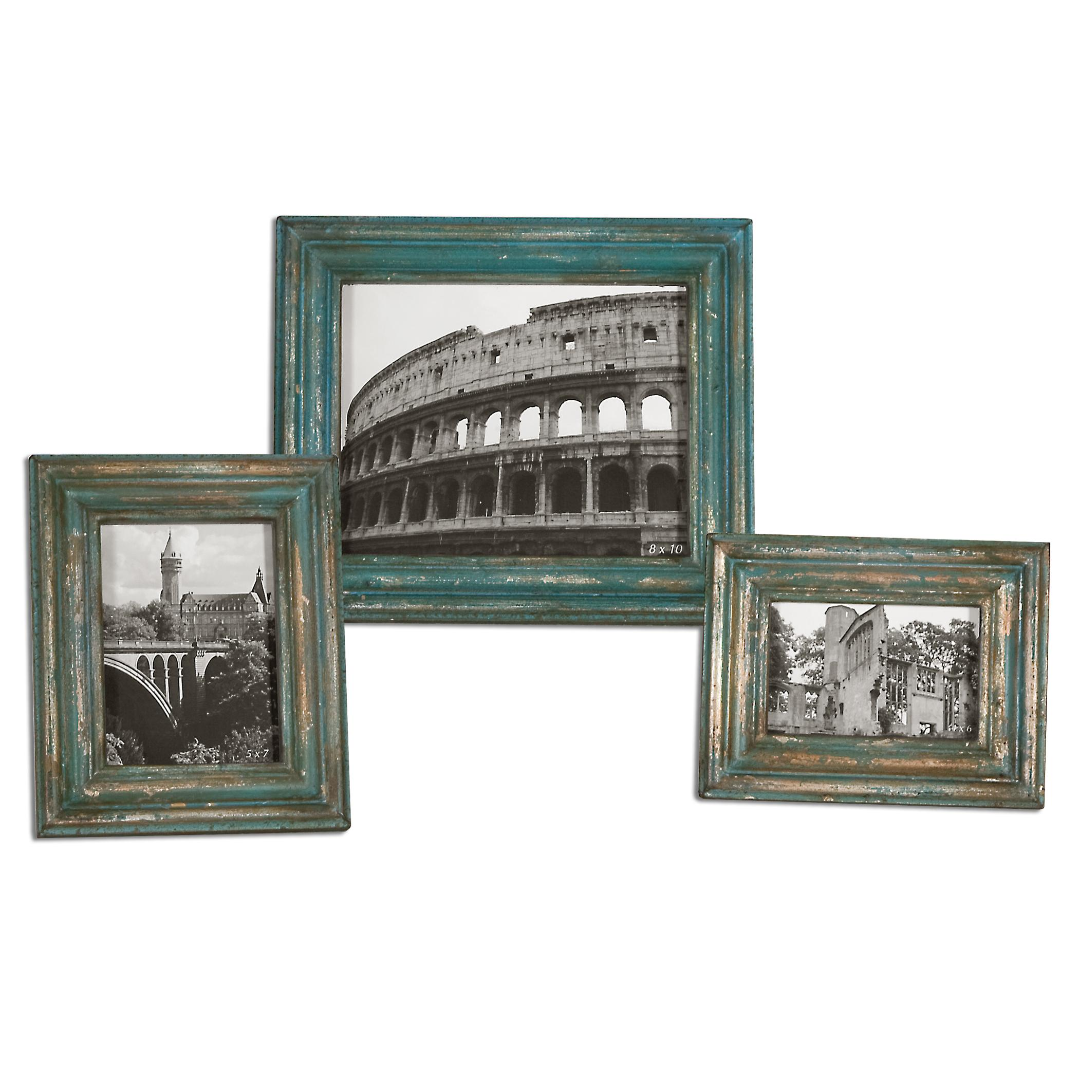 Uttermost Accessories Marlais Bronze Photo Frames, Set of  3 - Item Number: 18561