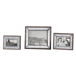 Daria Antique Mirror Photo Frames Set of 3