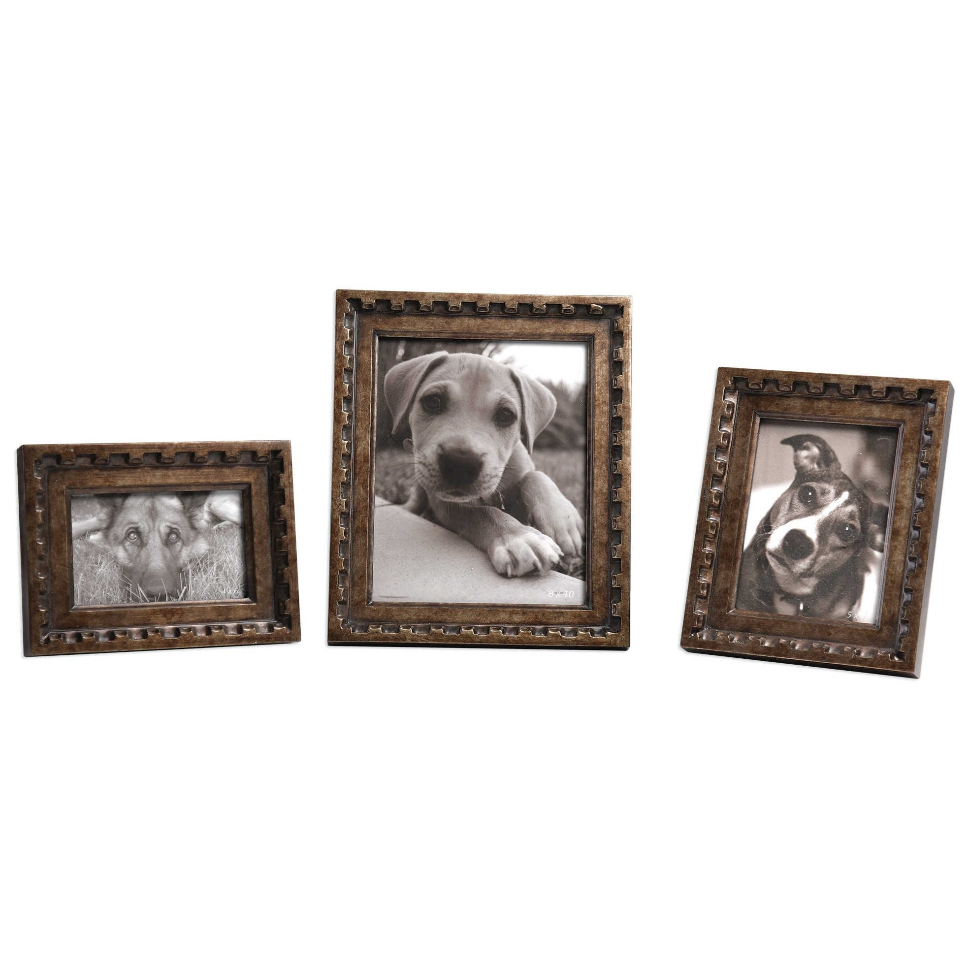 Kalya Antiqued Bronze Photo Frames Set of 3