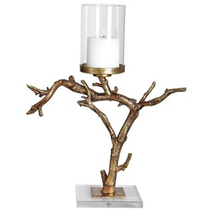 Uttermost Accessories Saud Gold Branch Candleholder