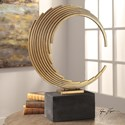 Uttermost Accessories Saanvi Curved Gold Rods Sculpture