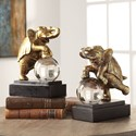 Uttermost Accessories Circus Act Gold Elephant Bookends, S/2