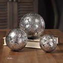 Uttermost Accessories Anahi Textured Silver Spheres, S/3