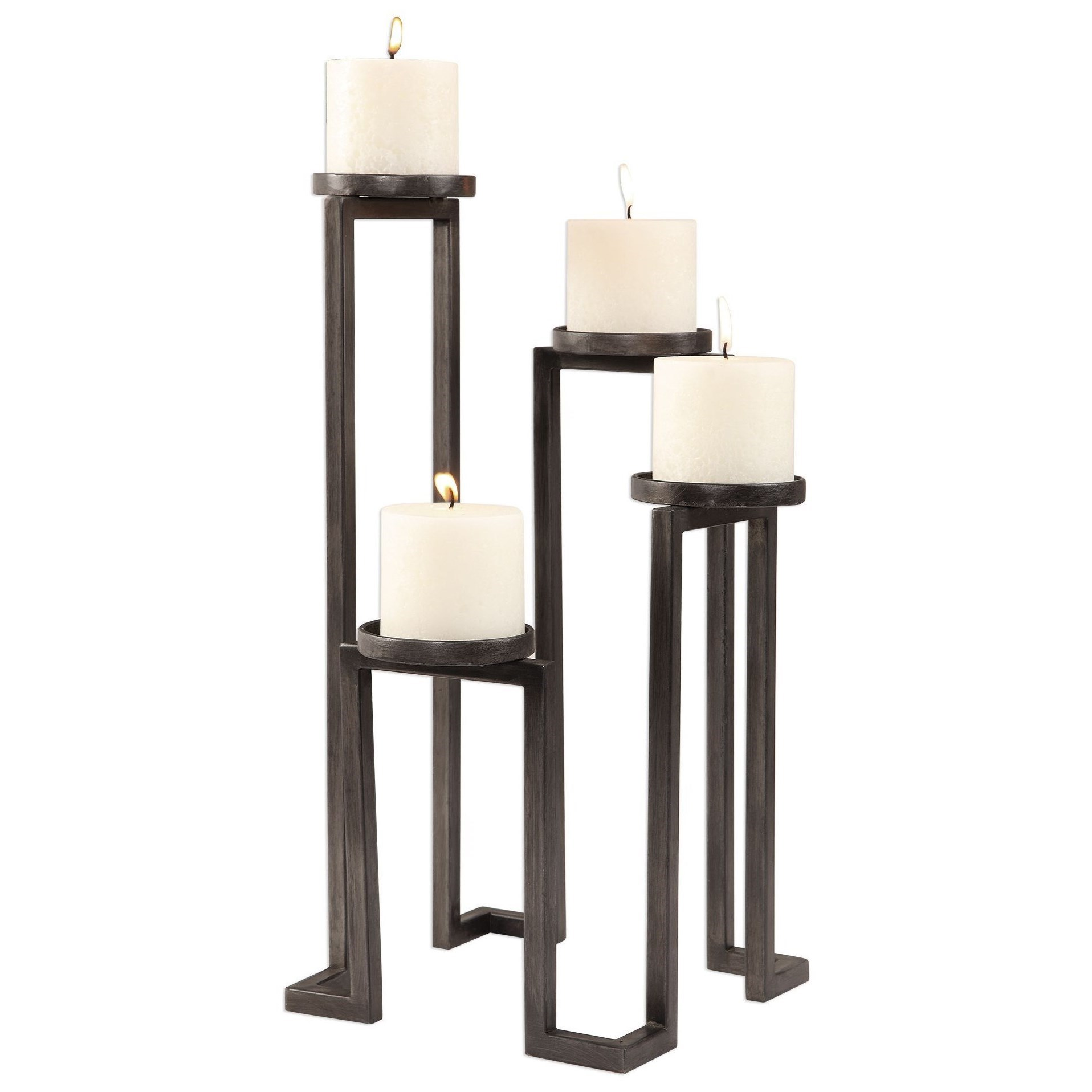 Accessories - Candle Holders Natalie Stepped Candleholder by Uttermost at Mueller Furniture