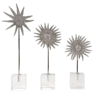Sunflower Starfish Sculptures, S/3