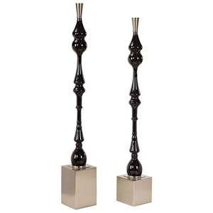 Uttermost Accessories Kyndall Black Finials, S/2