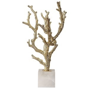Uttermost Accessories Coraline Silver Coral Sculptures