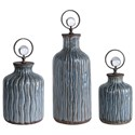 Uttermost Accessories Mathias Grey-Blue Vessels, S/3 - Item Number: 18633