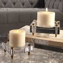 Uttermost Accessories Claire Crystal Block Candleholders, S/2