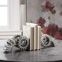 Uttermost Accessories Gears Silver Bookends (Set of 2)
