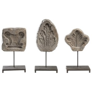 Uttermost Accessories Leaf Fossils (Set of 3)