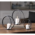 Uttermost Accessories Pina Curved Metal Candleholders (Set of 3)