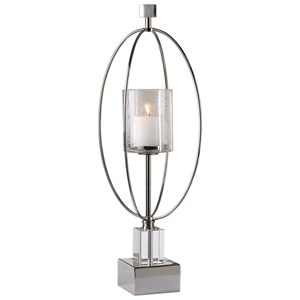 Uttermost Accessories Tamra Polished Silver Candleholders