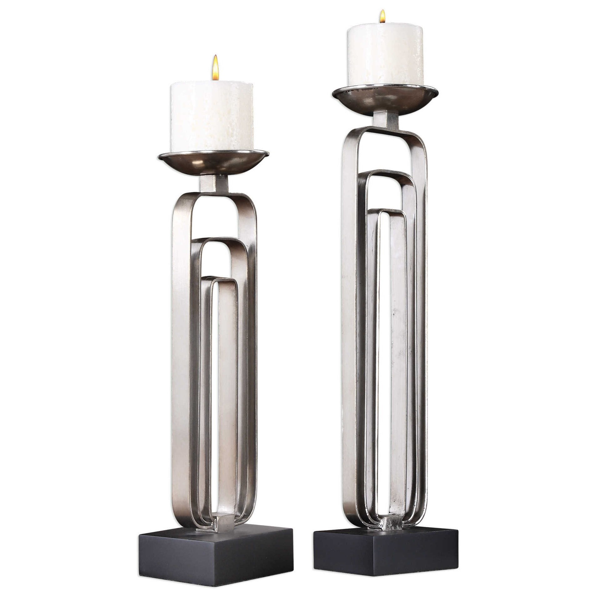 Uttermost Accessories Cosme Candleholders (Set of 2) - Item Number: 18720