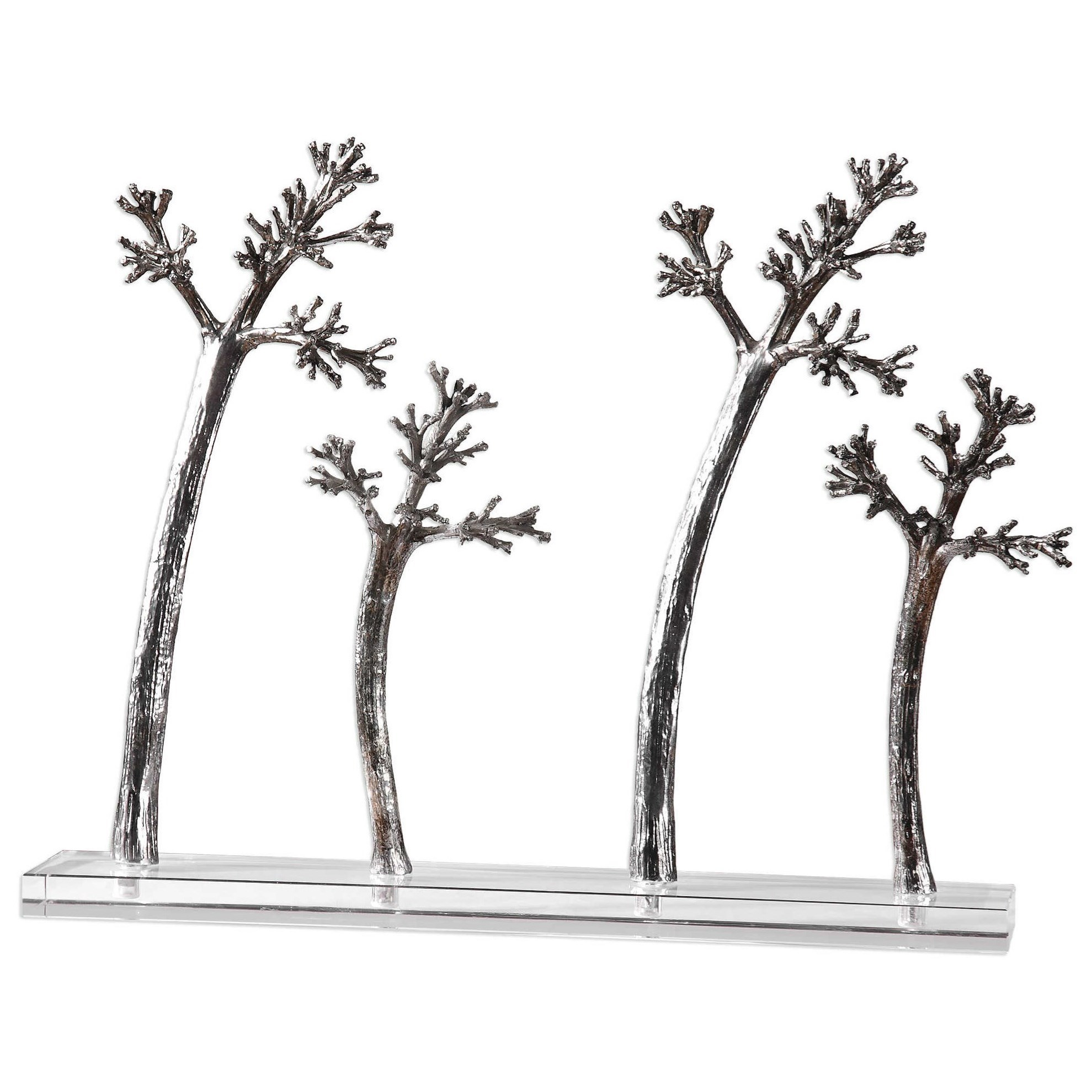 Uttermost Accessories Blowing Trees Sculpture - Item Number: 18721