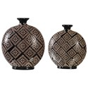 Uttermost Accessories Kelda Black Ceramic Vases (Set of 2) - Item Number: 18730