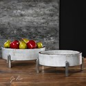 Uttermost Accessories Essie Pale Gray Bowls (Set of 2)