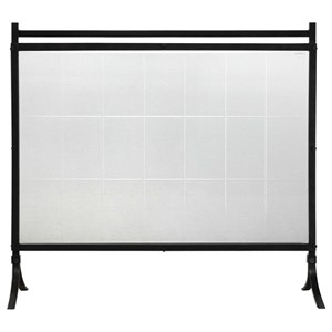 Tate Tempered Glass Fireplace Screen