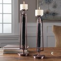 Uttermost Accessories Parnel Marble Candleholders (Set of 2)