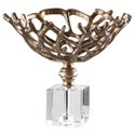 Uttermost Accessories Tiana Metallic Gold Bowl - Item Number: 18745