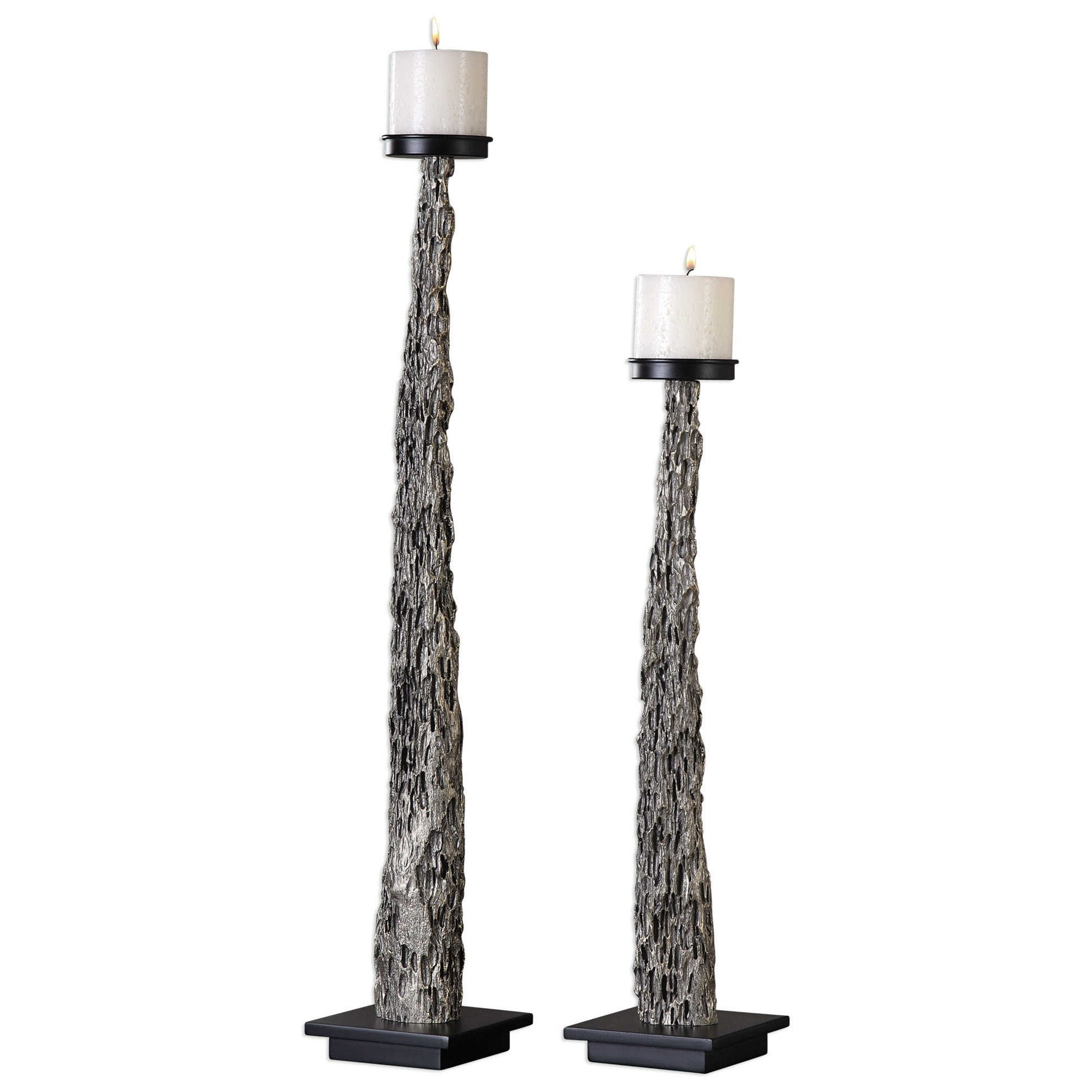 Uttermost Accessories Tegal Candleholders (Set of 2) - Item Number: 18754