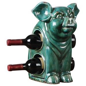 Uttermost Accessories Oink Ceramic Wine Holder