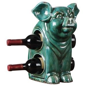 Oink Ceramic Wine Holder