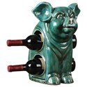 Uttermost Accessories Oink Ceramic Wine Holder - Item Number: 18757