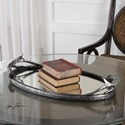 Uttermost Accessories Antiqued Silver Antler Tray
