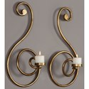 Uttermost Accessories Lucetta Gold Scroll Wall Sconces Set/2