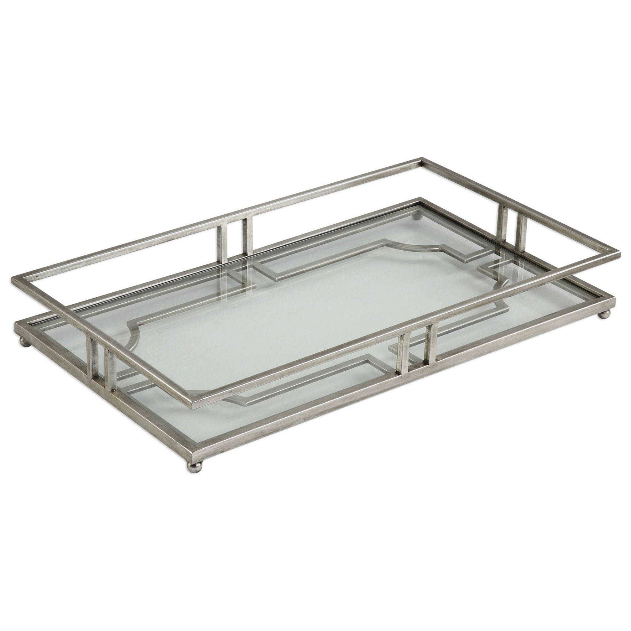 Accessories Rafaela Silver Tray by Uttermost at Dunk & Bright Furniture
