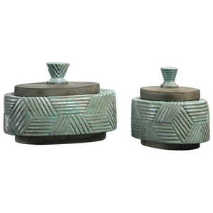 Ruth Ceramic Boxes Set of 2