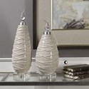 Uttermost Accessories Romeo Crackled Light Gray Finials Set of 2