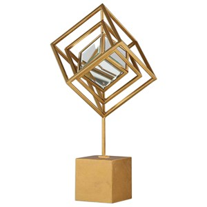 Venya Metallic Gold Sculpture