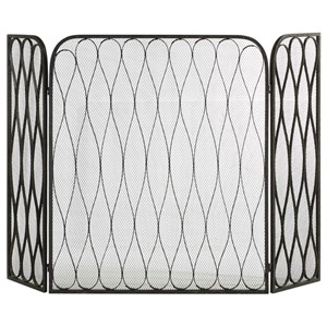 Uttermost Accessories Binti Dark Brown Fireplace Screen