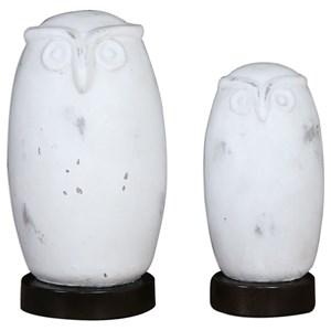 Hoot Owl Figurines Set of 2