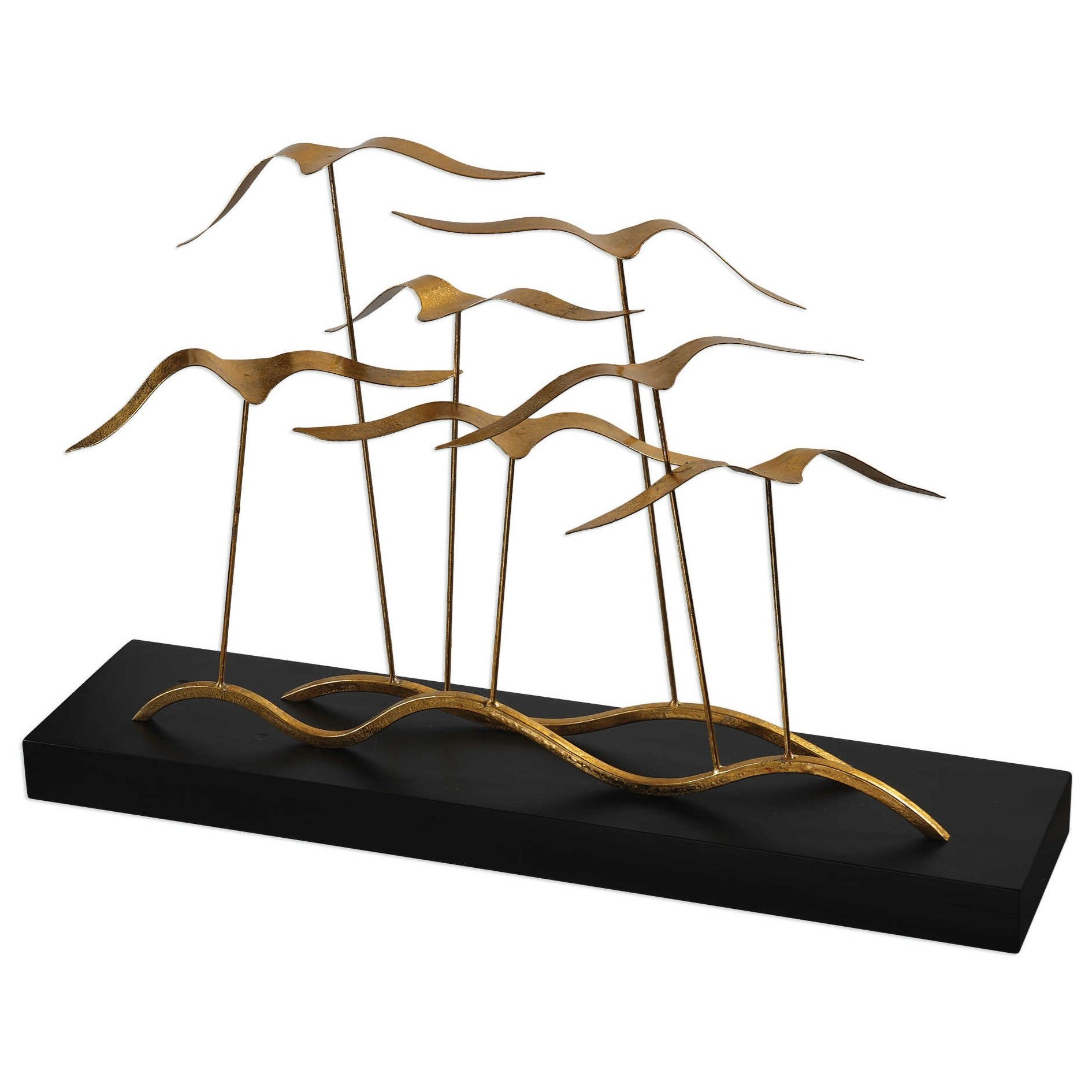 Accessories - Statues and Figurines Flock of Seagulls Sculpture by Uttermost at Dunk & Bright Furniture