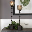 Uttermost Accessories Lula Oil Rubbed Bronze Candleholders Set of 2