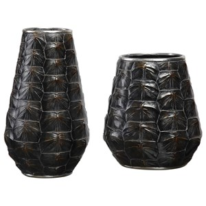 Uttermost Accessories Kapil Tortoise Shell Vases Set of 2