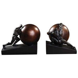 Uttermost Accessories Weight of the World Bookends Set of 2